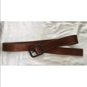 Brown/copper cracked leather look belt